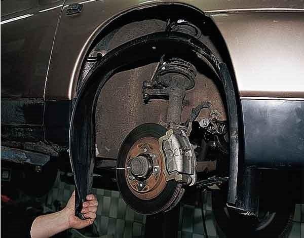 Как снять подкрылок передней колесной арки на ВАЗ 2110, 2111, 2112