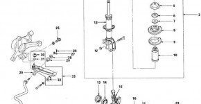 Описание конструкции передней подвески Матиза
