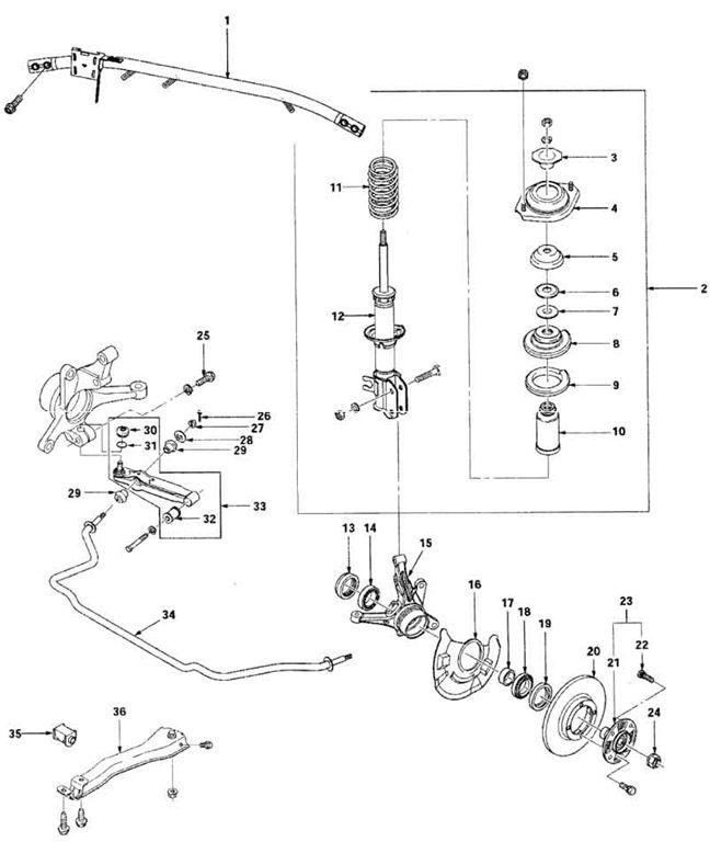 Схема передней подвески дэу матиз