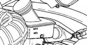 Проверяем уровень тормозной жидкости в Матизе