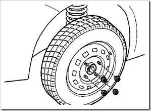 как снять колесо на дэу матиз