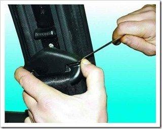 Как заменить передний ремень безопасности на ваз 2110