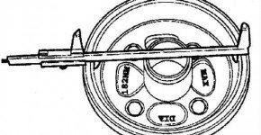 Проверяем тормозной барабан на Дэу Матиз