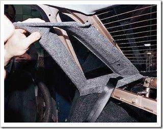 замена обивки крыши в ваз 2110