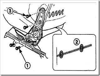 снимаем механизм наклона спинки переднего сиденья