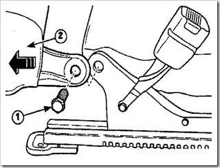 снятие и установка спинки переднего сиденья на дэу матиз