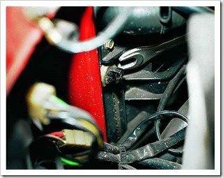 замена датчика включения вентилятора двигателя