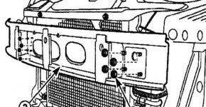 Как снять каркас переднего бампера с Дэу Матиз