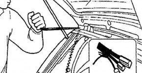 Как снять и установить дверь багажника Дэу Матиз
