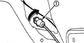Как снять ручку и трос заправочной горловины на Дэу Матиз