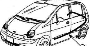 Как снять ручку и трос двери багажника на Дэу Матиз