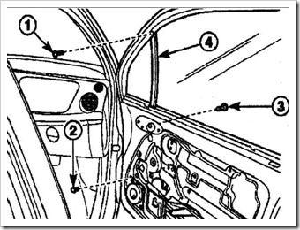 замена направляющей стекла передней двери матиз