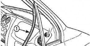Как снять и установить направляющую стекла передней двери на матизе