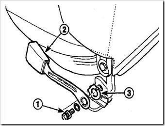 как снять и установить пряжку ремня безопасности передних сидений в дэу матиз