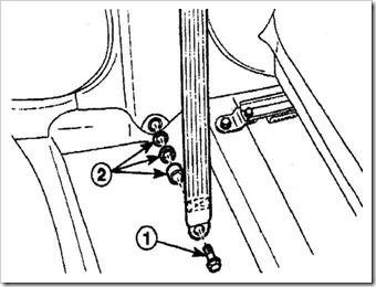 снимаем ремень безопасности передних сидений на дэу матиз
