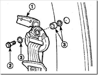 как снять и установить ремень безопасности передних сидений в матизе
