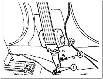 замена ремня безопасности в матизе