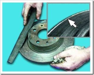 установка тормозного диска на переднее колесо