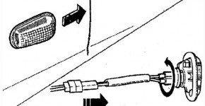Как снять и установить боковой указатель поворота на Дэу Матиз