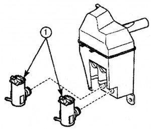 снимаем насос омывателя ветрового стекла с дэу матиз