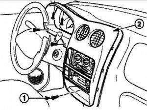 снимаем панель управления с матиза