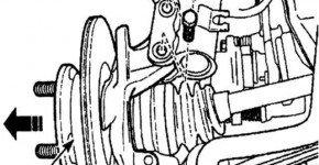 Как снять и установить поворотный кулак на Деу Матиз