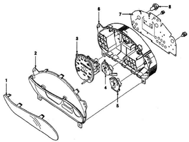 панель приборов матиза