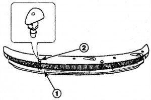 как снять и установить жиклер омывателя ветрового стекла на дэу матиз