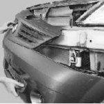 Как снять и установить передний бампер на рено логан