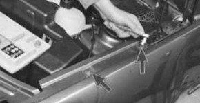 Как снять и установить переднее крыло на рено логан