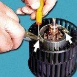 Как разобрать электродвигатель вентилятора печки ВАЗ 2110, 2111, 2112