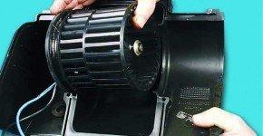 Как снять и установить вентилятор отопителя на ВАЗ 2110, 2111, 2112