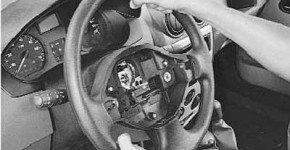 Как снять и установить рулевое колесо на рено логан