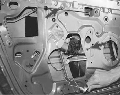 замена стеклоподъемника на передней двери рено логан и сандеро