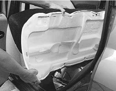 Как снять и установить заднее сиденье на рено логан\сандеро