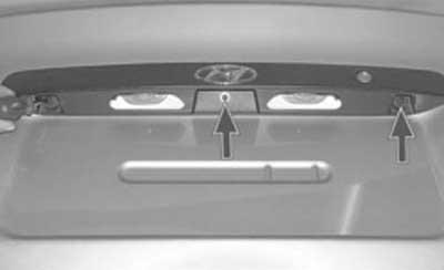 как снять и установить накладку багажника на хендай акцент