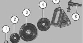 Как заменить натяжной ролик ремня привода компрессора кондиционера на хендай акцент
