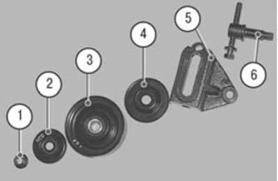 Как заменить натяжной ролик ремня привода компрессора на хендай акцент