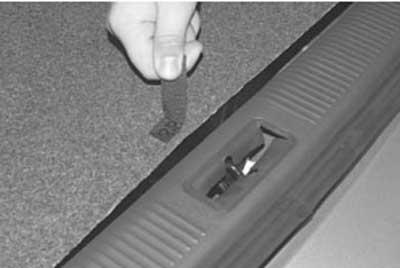как снять облицовки багажника на хендай акцент