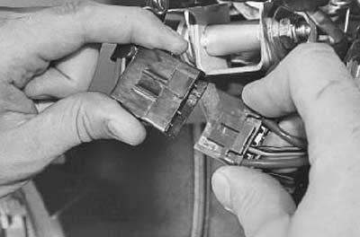отсоединяем провода от замка зажигания