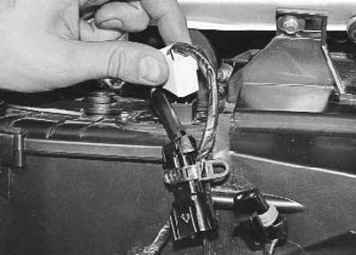 отсоединяем провода от добавочного резистора