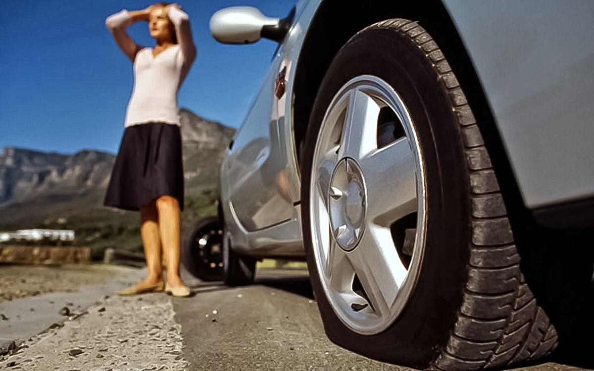 Если в дороге пробилось колесо